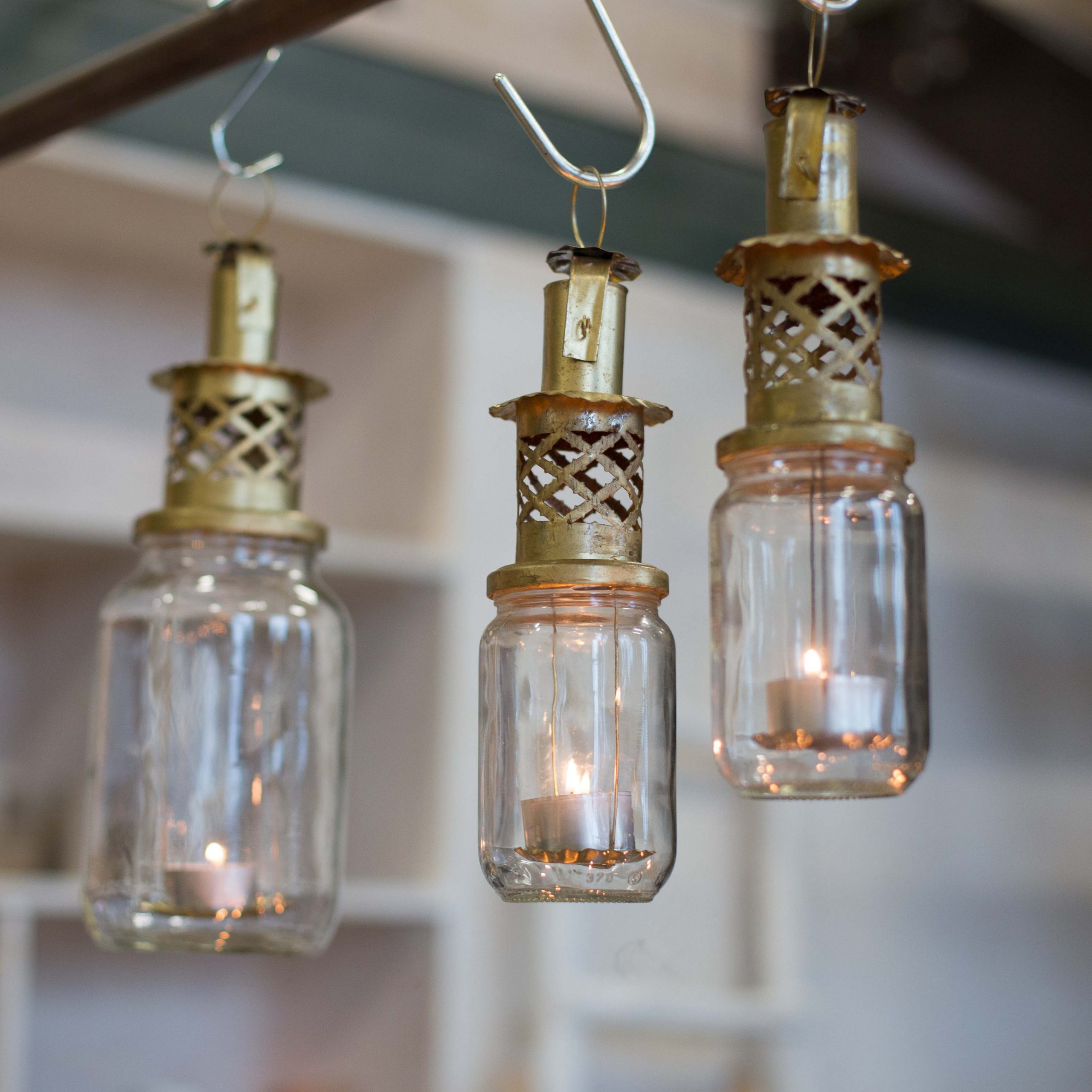 Recycled candle holders