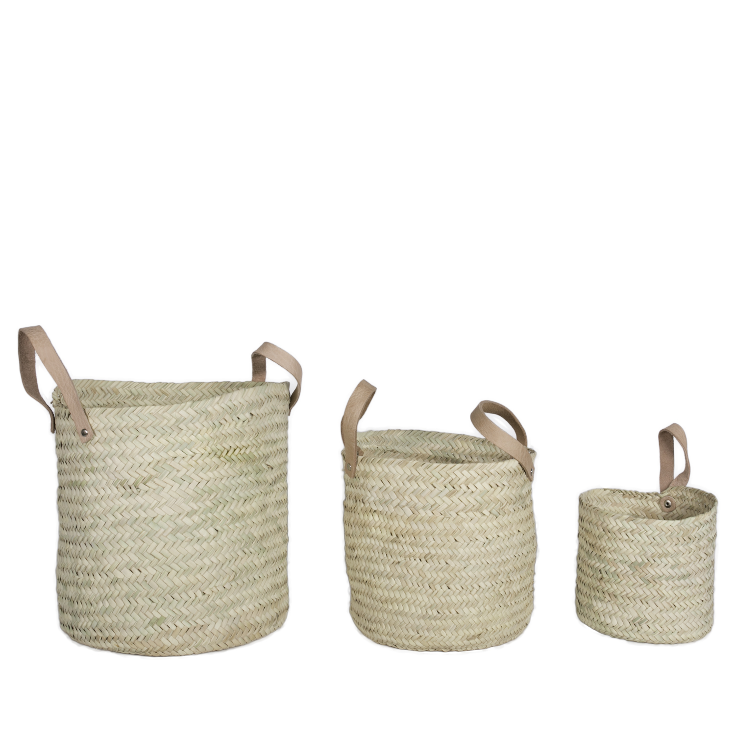Marrakech set baskets with leather COMING SOON