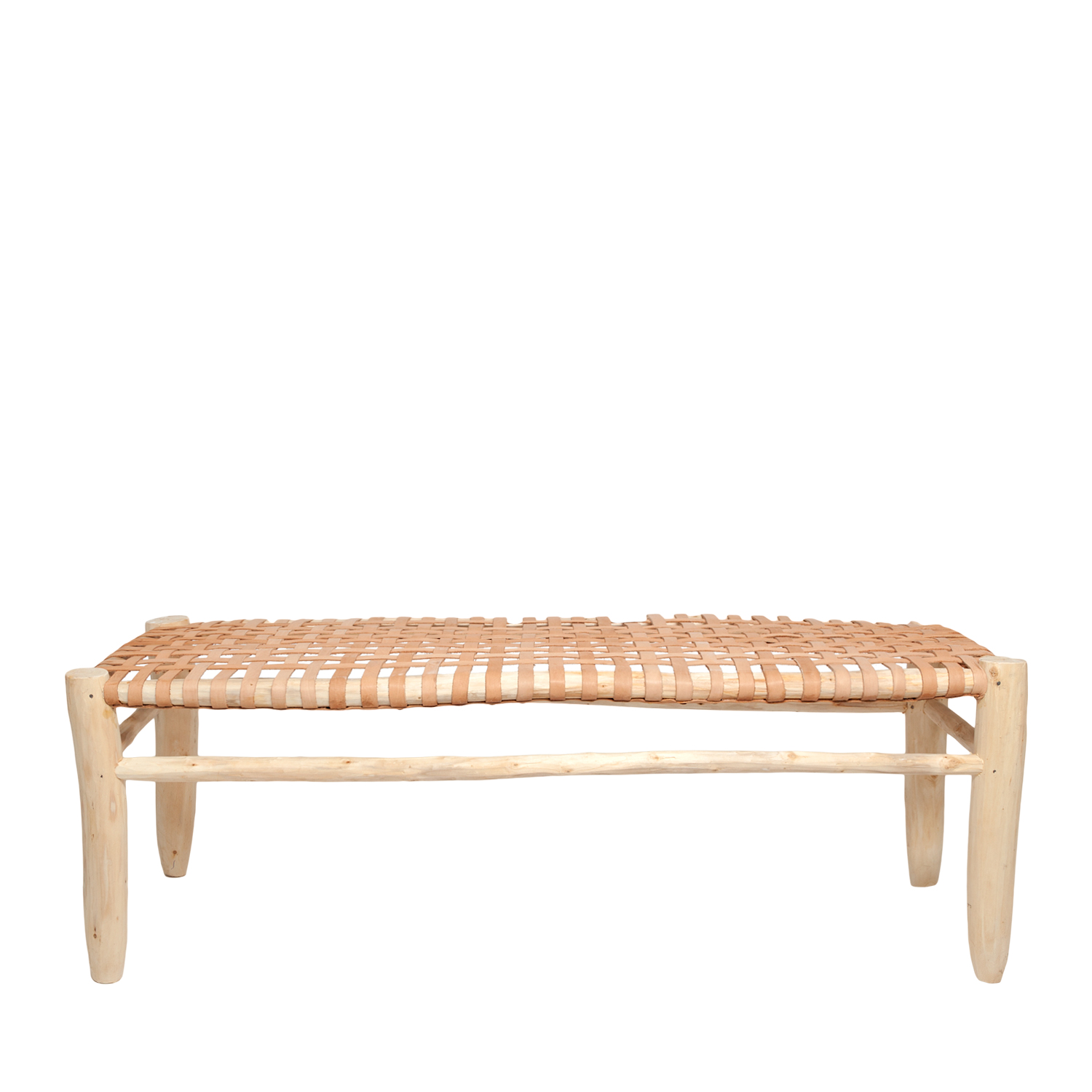 bench natural/natural leather seating