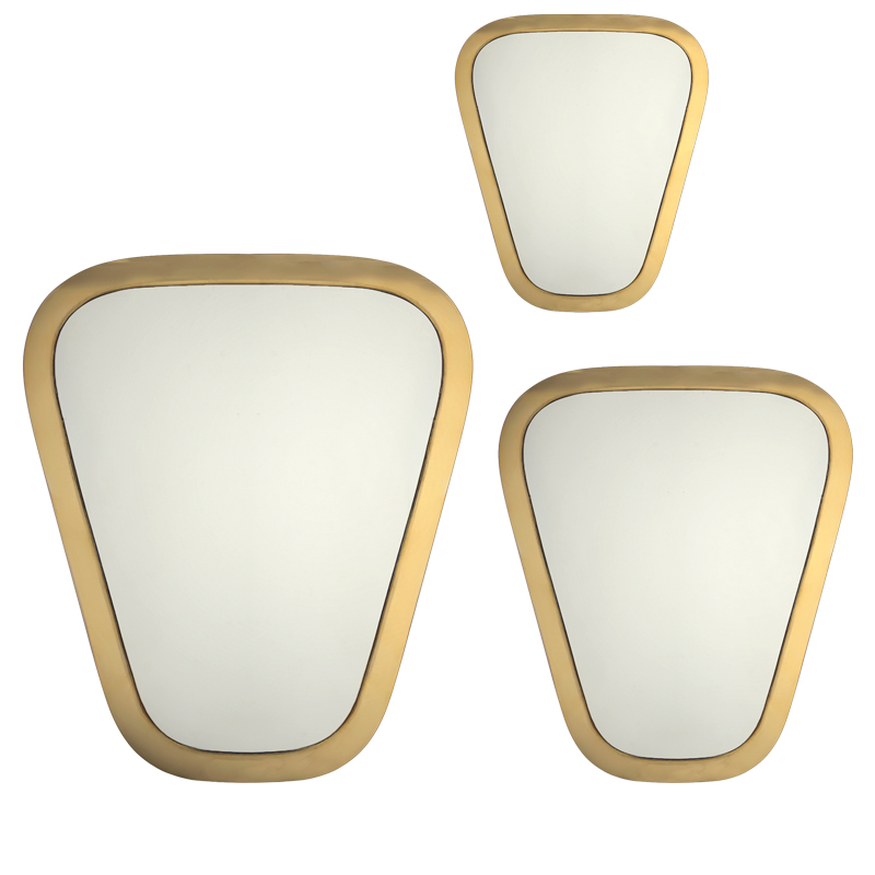 mirrors seventies copper (set of three).