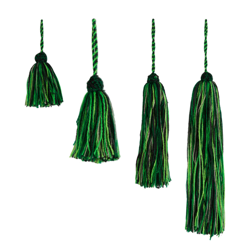tassel, wool basic colors