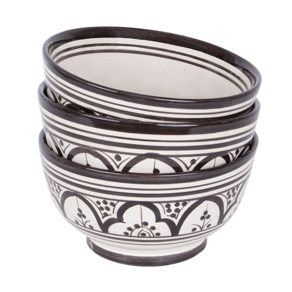 Moroccan bowl black pattern