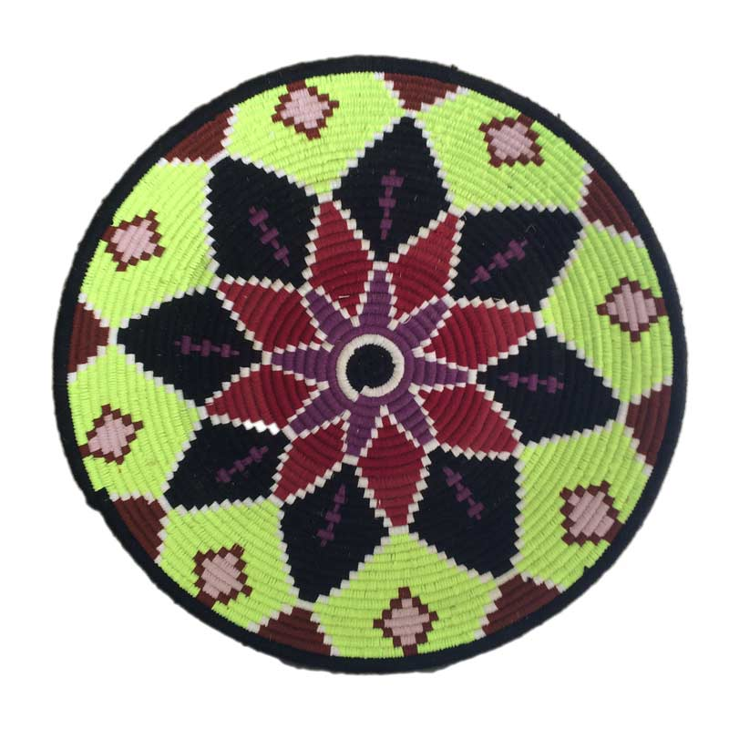 Berber basket, flat, colorful