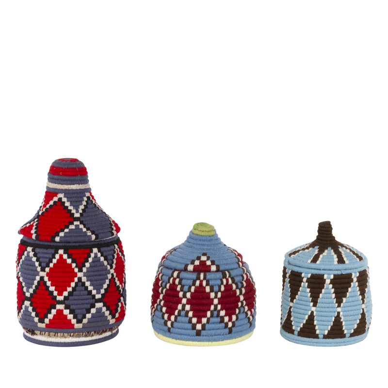 Berber basket S – M, colorfull, unique piece