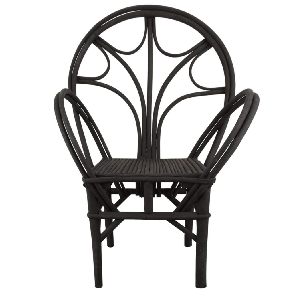 Essaouira chair black 'bow'