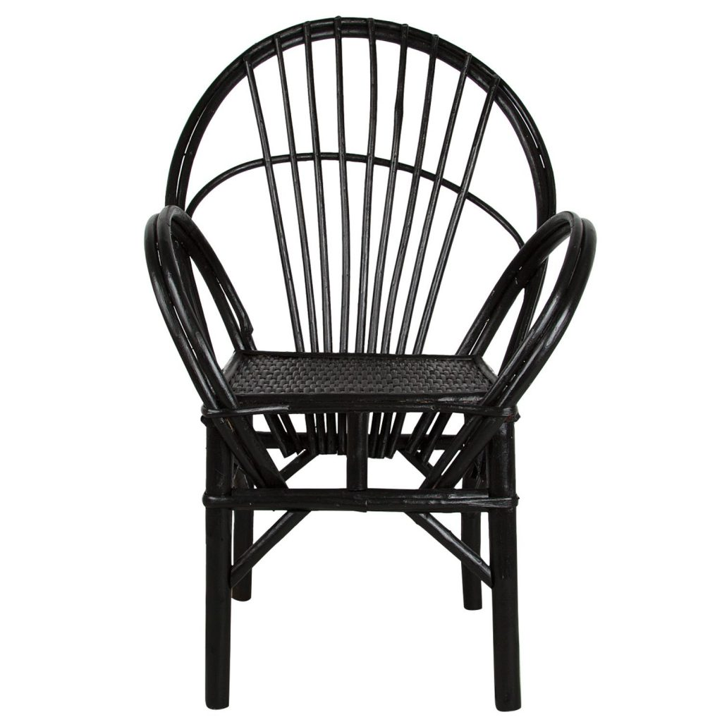 Essaouira chair black 'straight'