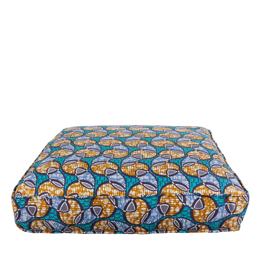 Lounge mattress African print wink blue