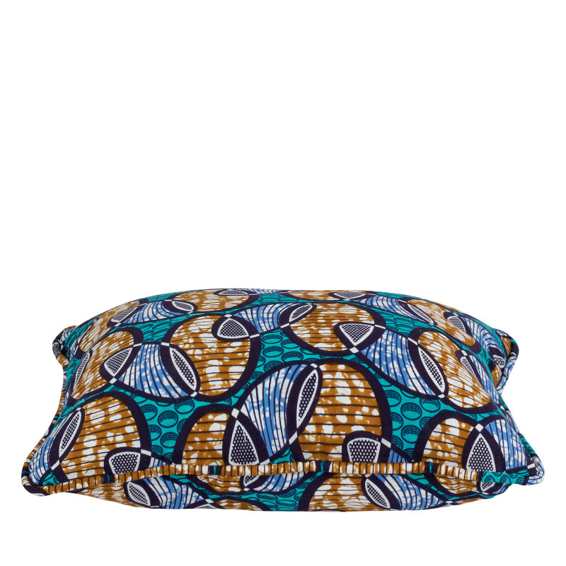 Cushion cover African print wink blue