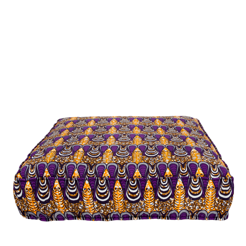 Lounge mattress African print drop purple