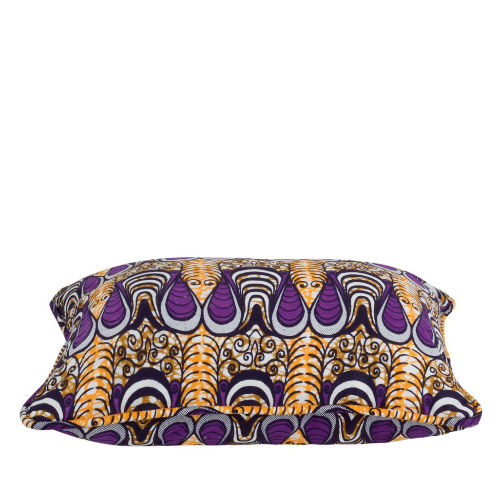 Cushion cover African print drop purple
