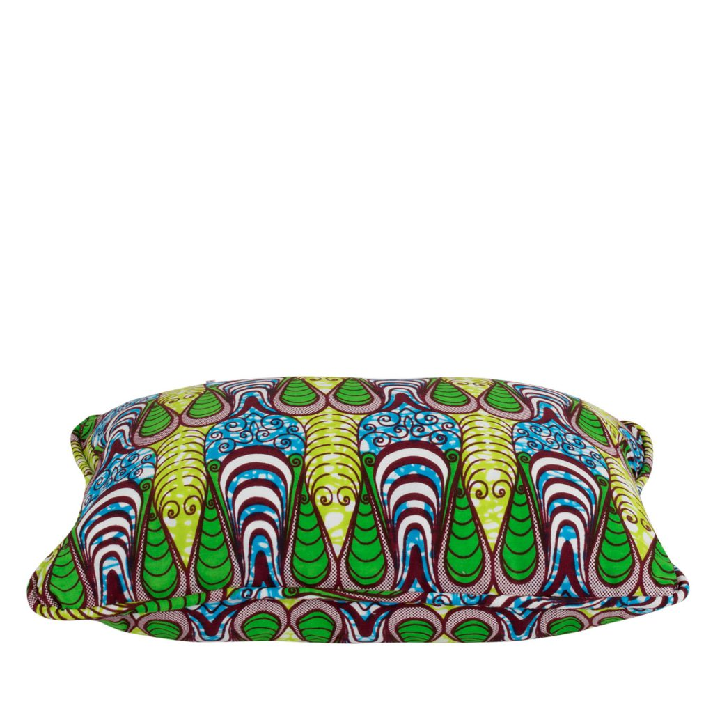 Kussenhoes African print drop green