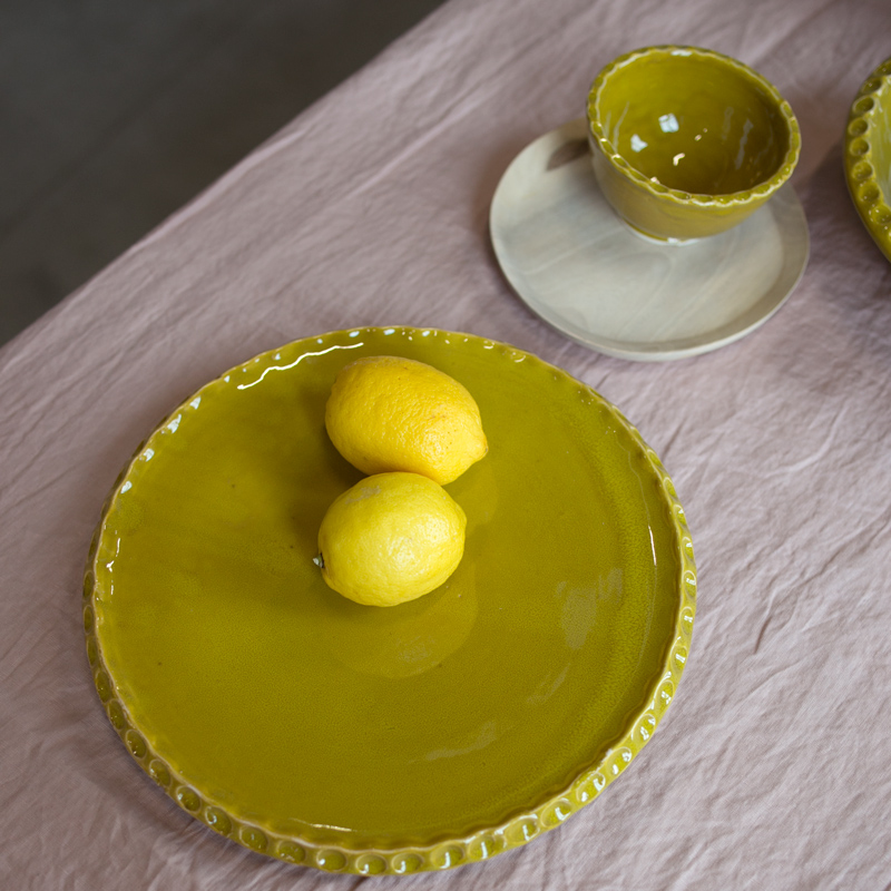 plate 13 cm olive