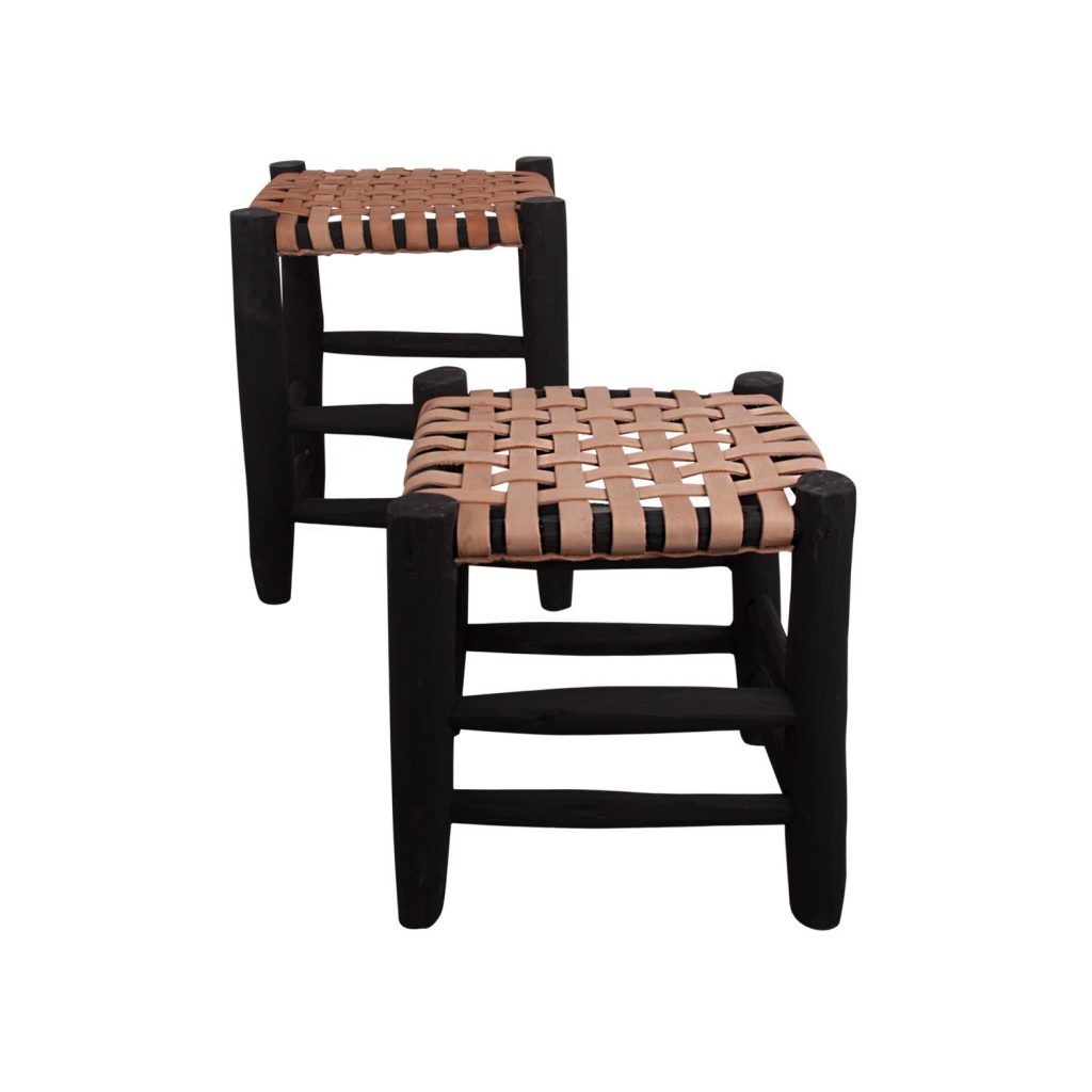 stool black/natural S-L