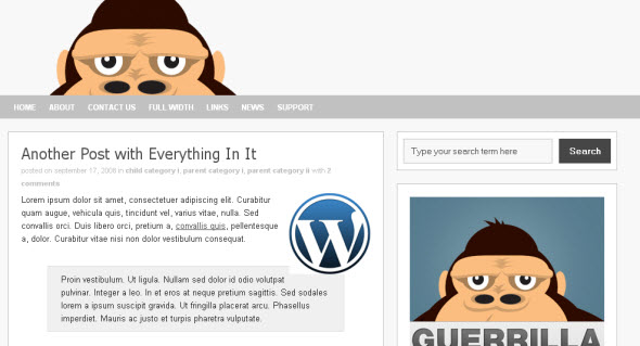 Guerilla free wordpress theme