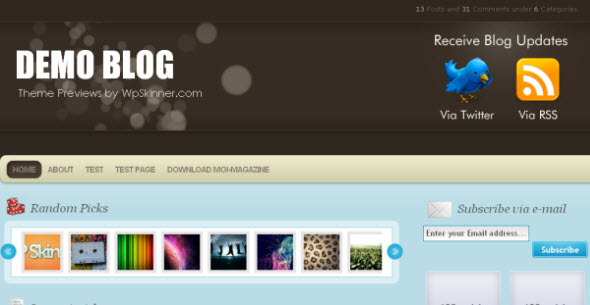Moi Magazine gratis wordpress template