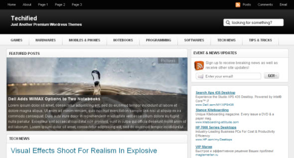 Techified gratis wordpress theme