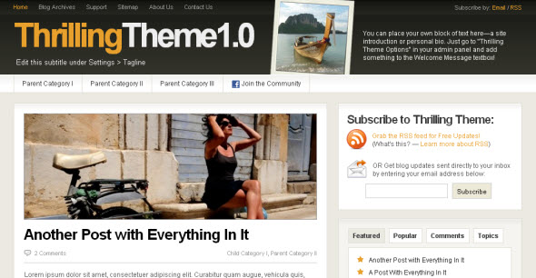 Thrilling Theme free wordpress template