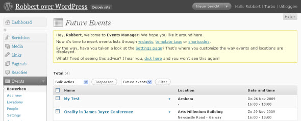wordpress event manager plugin