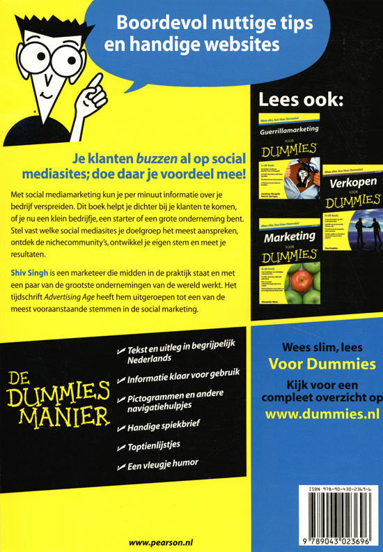 Boek Social Media Marketing voor Dummies