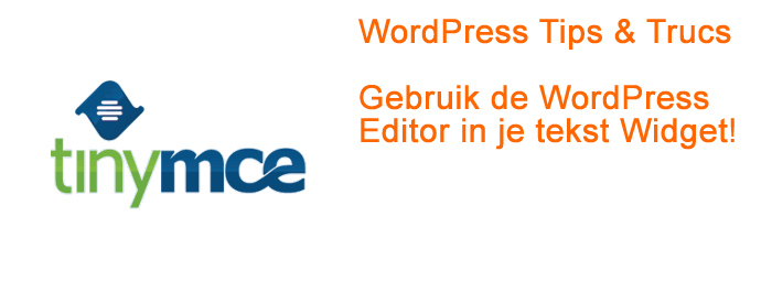 WP Editor in Tekst Widget