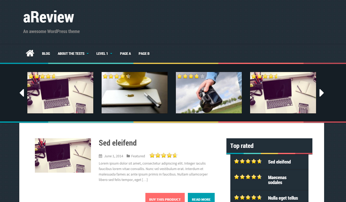 gratis review theme
