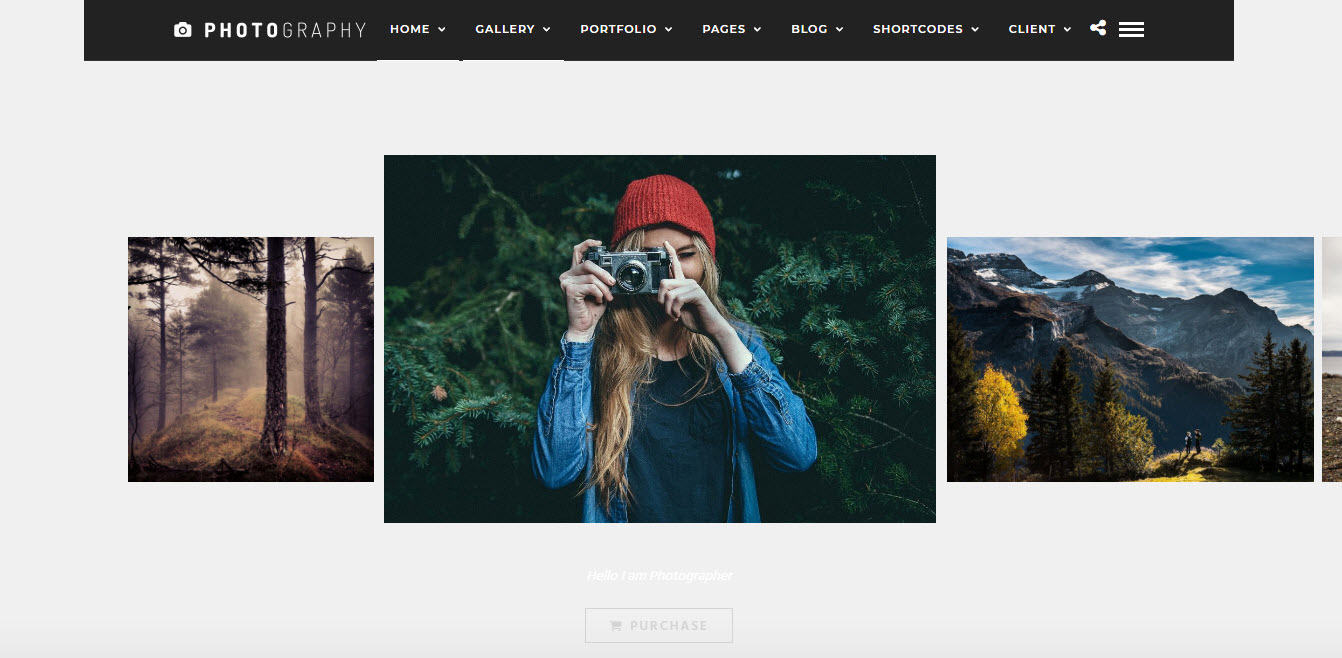 photography thema voor wordpress