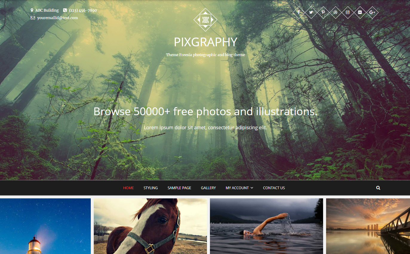 wordpress foto website pixgraphy