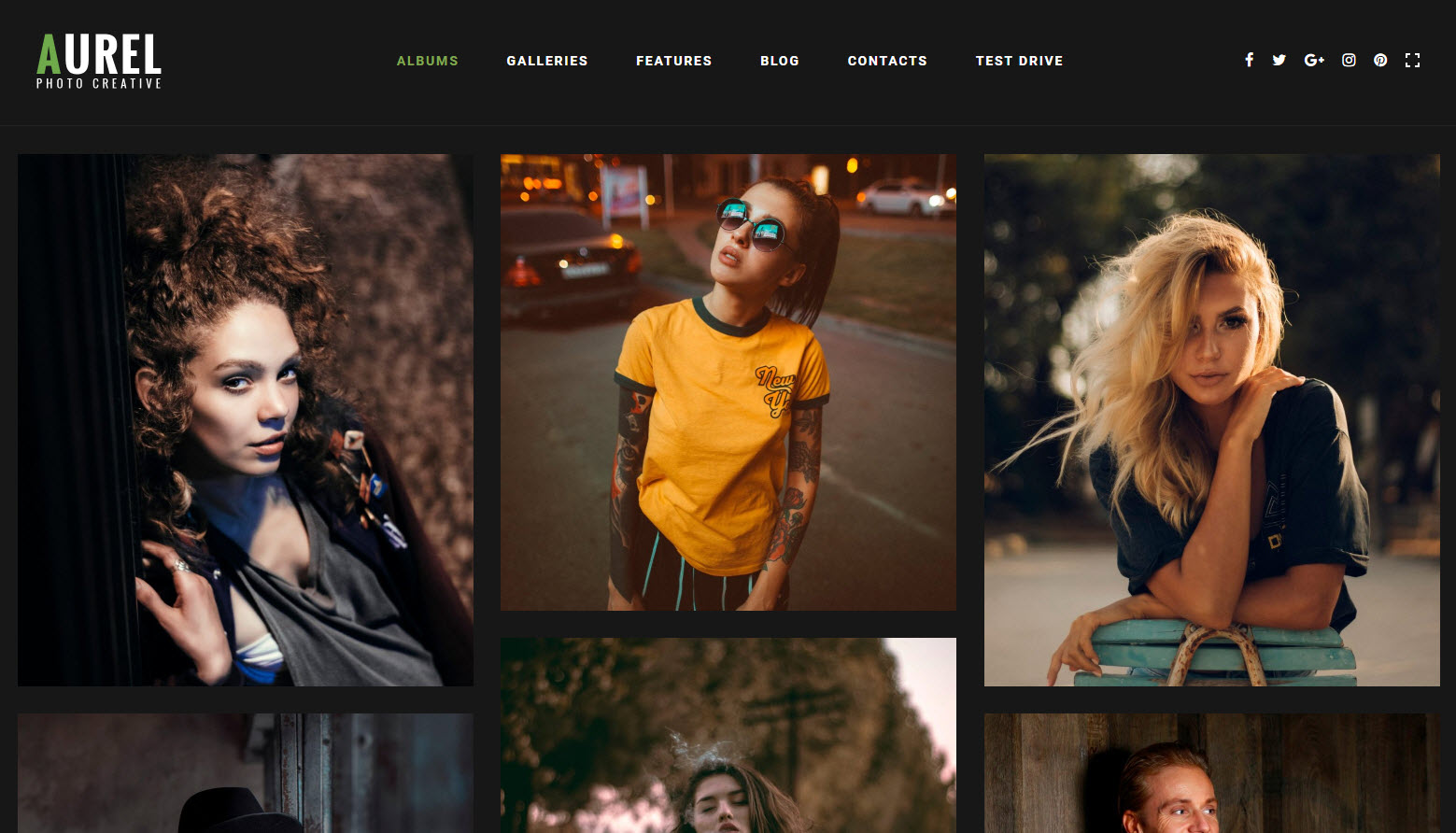 wordpress thema voor fotograaf aurel