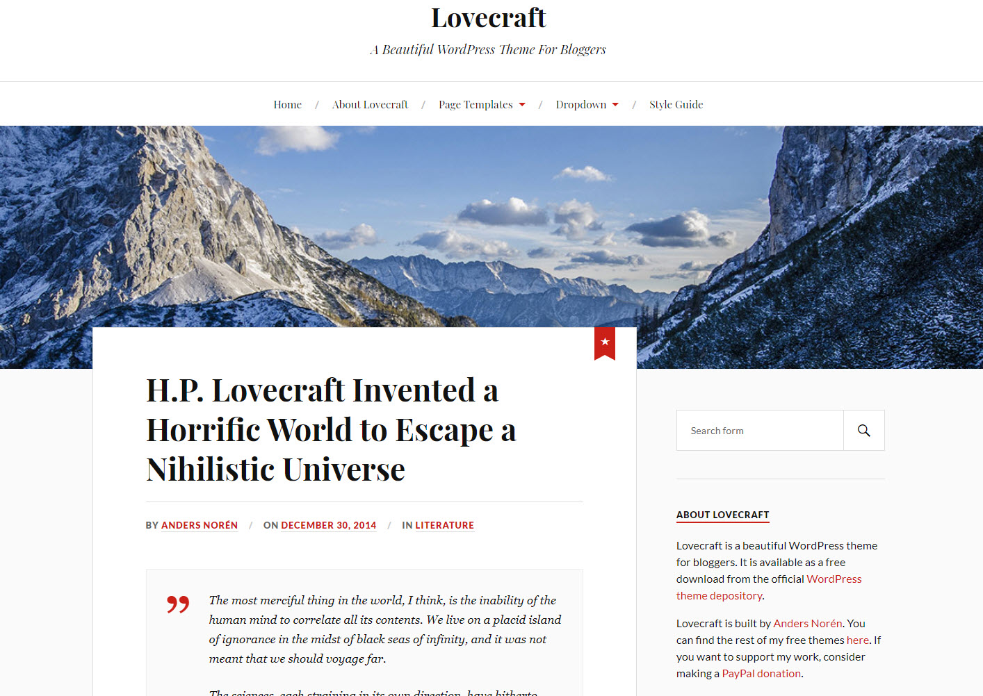 blog thema lovecraft