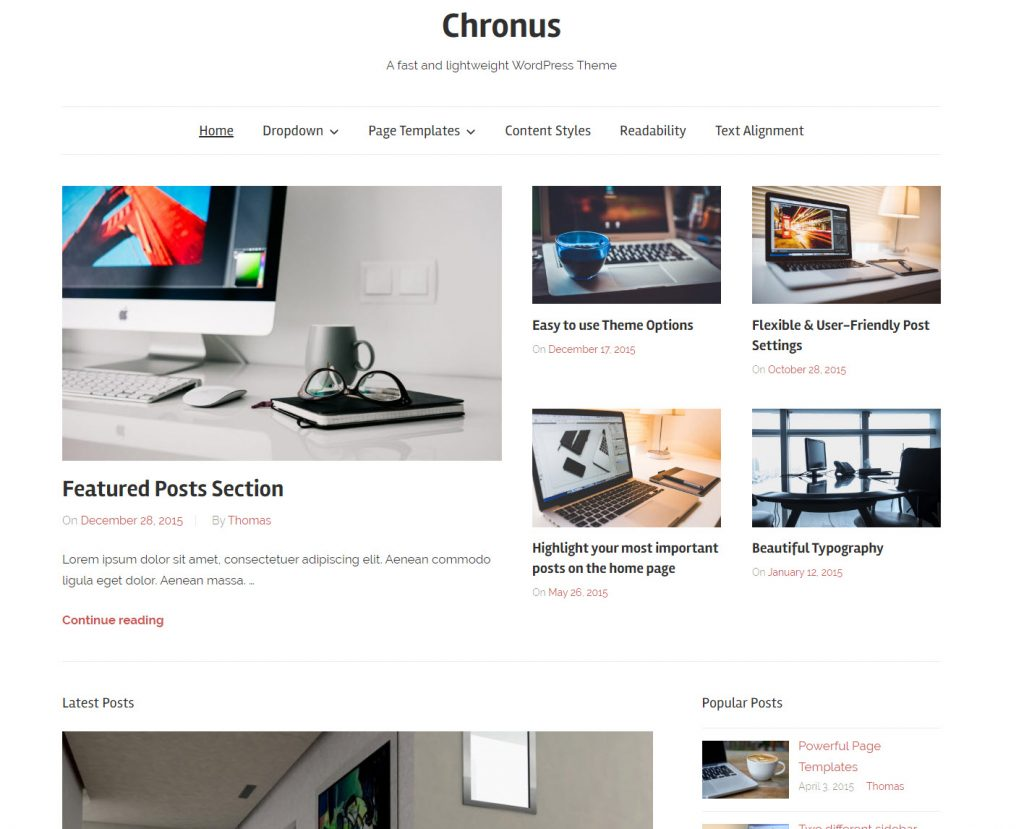 chronus wp thema