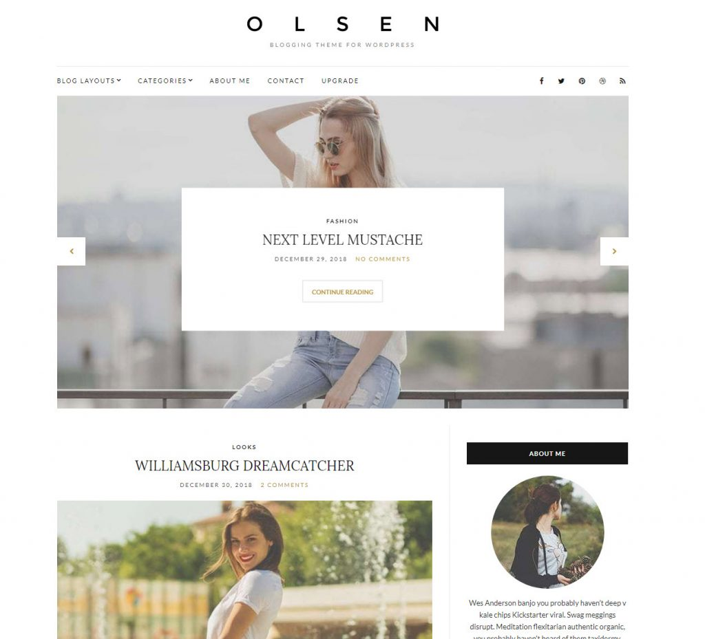 gratis wordpress thema olsen