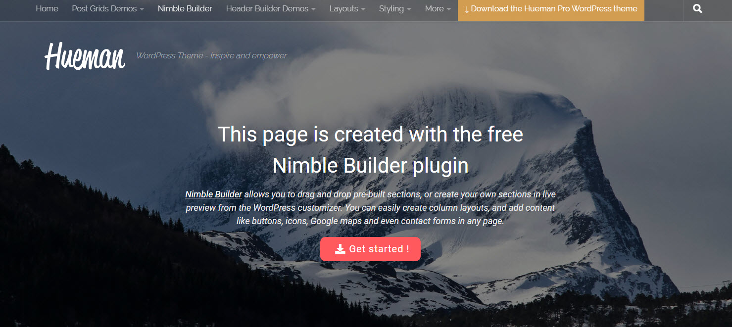 gratis blog theme Hueman