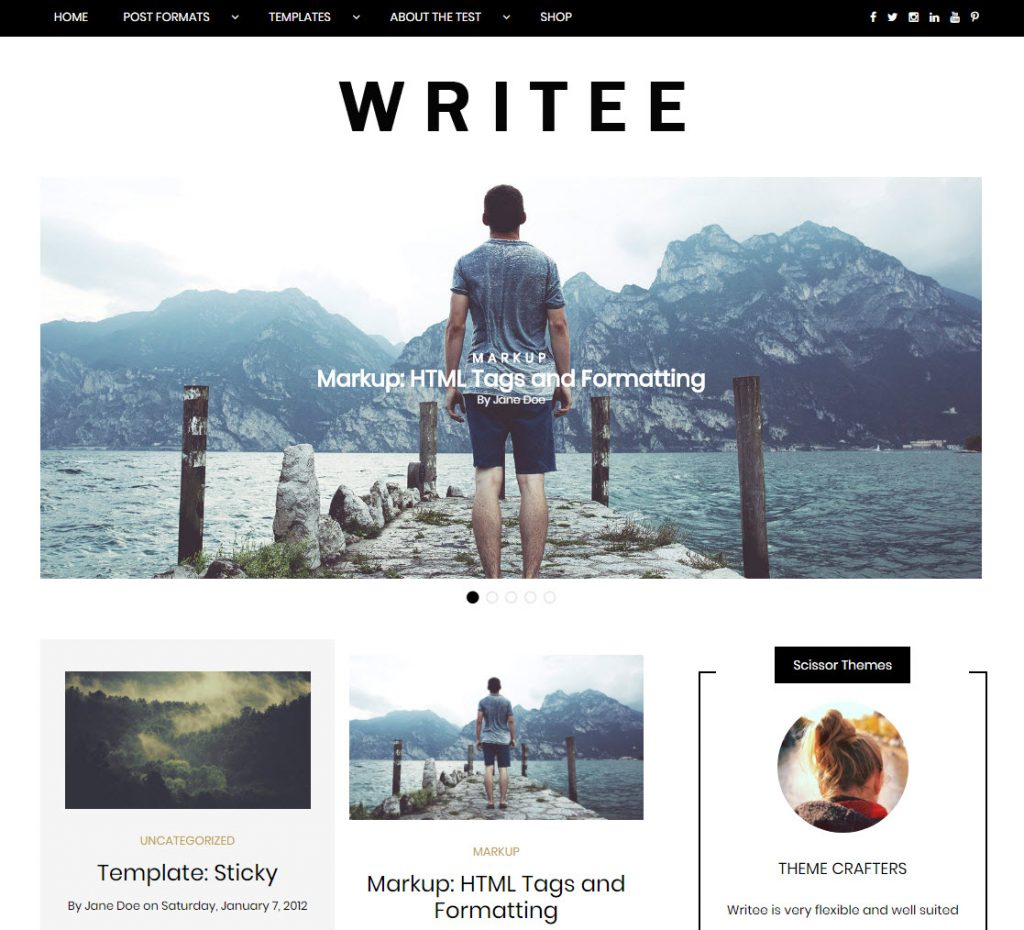 snel wordpress theme writee