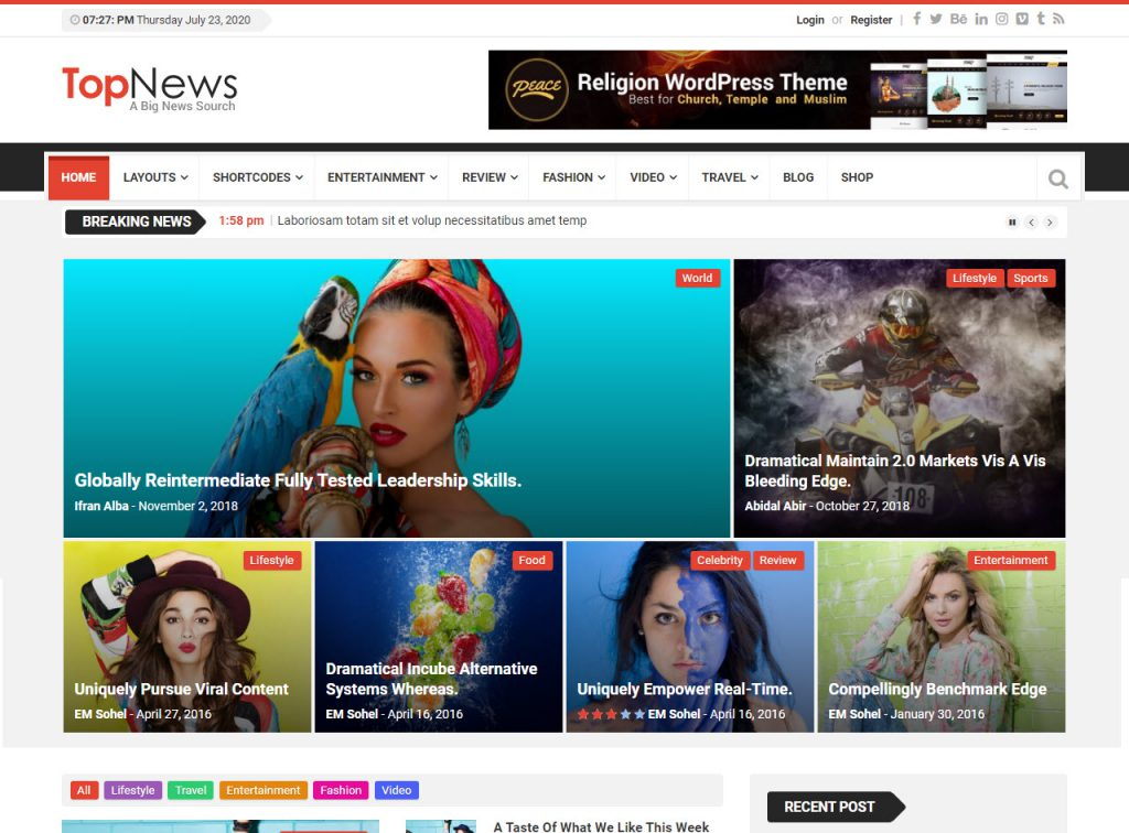 topnews snel magazine theme