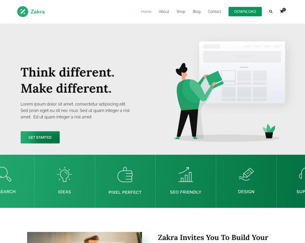 zakra snel wordpress theme